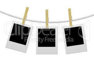 Designer concept - blank photo frames for your photos