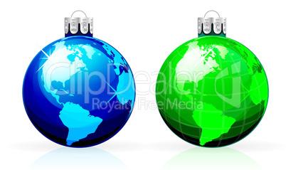 Globe christmas balls