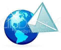 Mail in globe