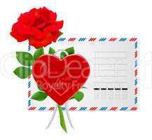 envelope to the St.Valentine