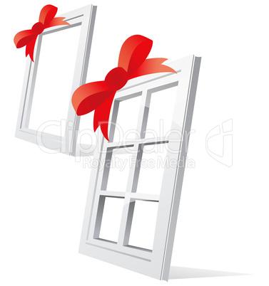 Perspective plastic window illustration