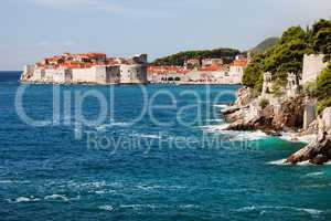Dubrovnik on the Adriatic Sea