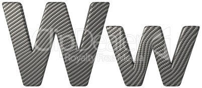 Carbon fiber font W lowercase and capital letters