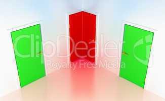 Right or wrong: conceptual corner door