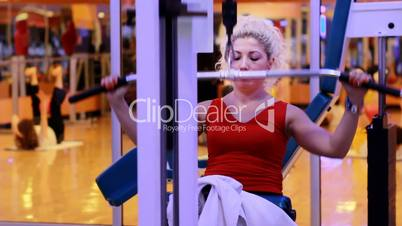 girl doing sports in a gym 9