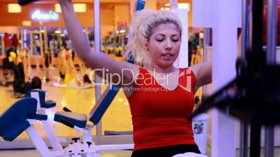 girl doing sports in a gym 10