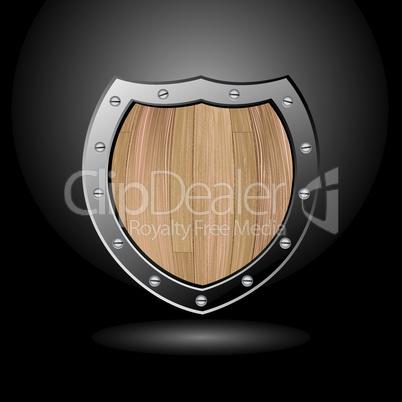 Wood shield blank light