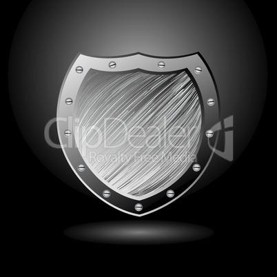 Metal brushed sheild secure