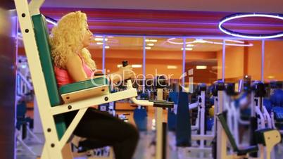 girl doing sports in a gym 14