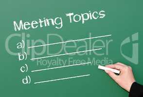 Meeting Topics - Business Concept