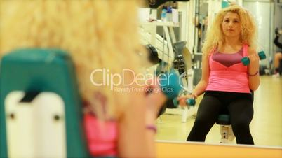 girl doing sports in a gym 15
