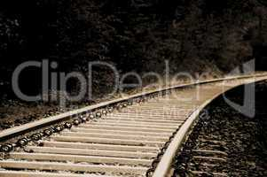 Vintage railroad tracks