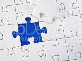 Puzzle weiß blau - Jigsaw white blue