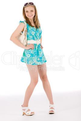 Teenager woman happy in summer dress