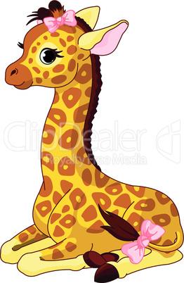 Giraffe Calf with bow