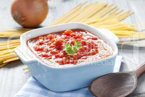 frische Tomatensauce / fresh tomato sauce