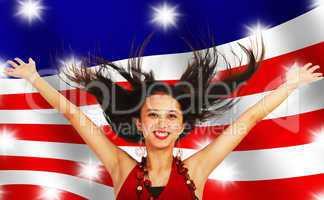 American Girl Celebrating
