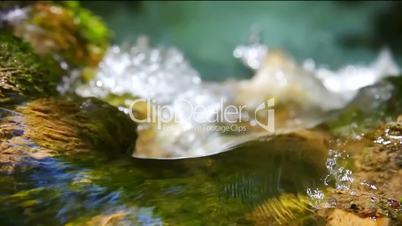 Waterfall Effect flowing water LOOPING SLOW MOTION