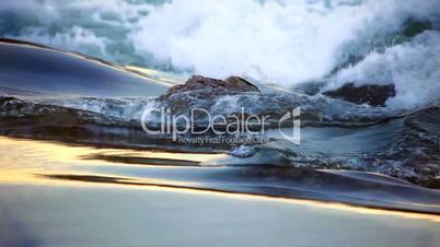 water flow to waterfall looping time laps