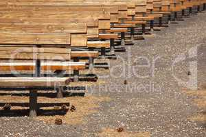 Outdoor Wooden Amphitheater Seating Abstract