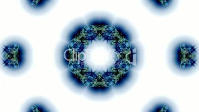blue butterfly circle pattern and smoke.lotus,Buddhism Mandala flower,kaleidoscope,oriental religion texture.
