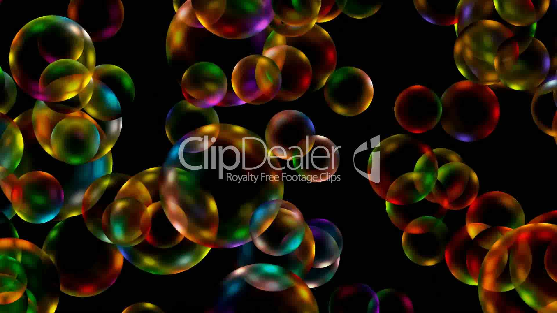 Animation Of Color Disco Balls Or Bubble Drop Water
