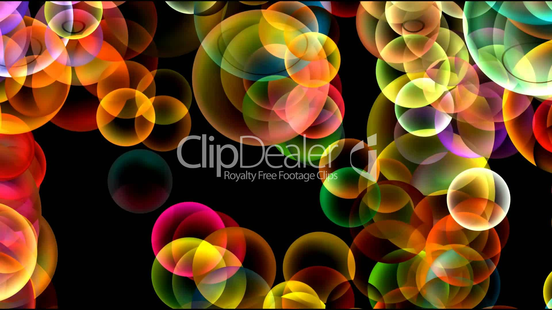 Animation of color disco balls or bubble Drop,water,mercury