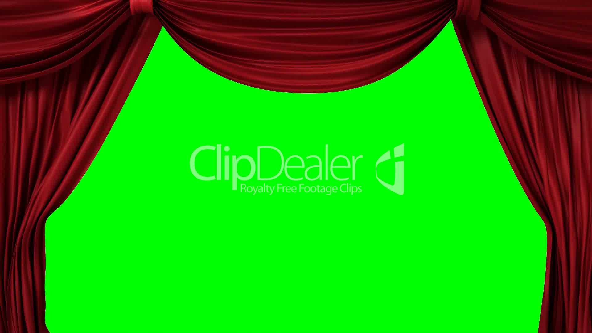 Opening Red Curtain With Spotlights: Royalty Free Video And Stock Footage