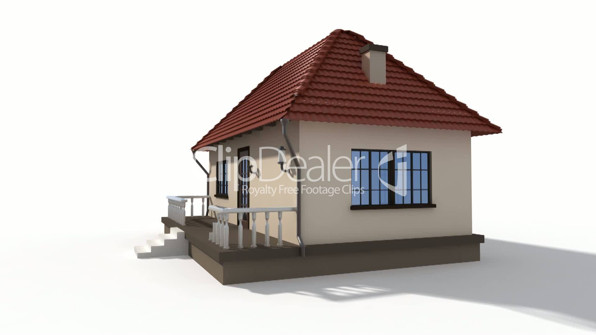 Time Lapse Animation Of A Building House Royalty Free