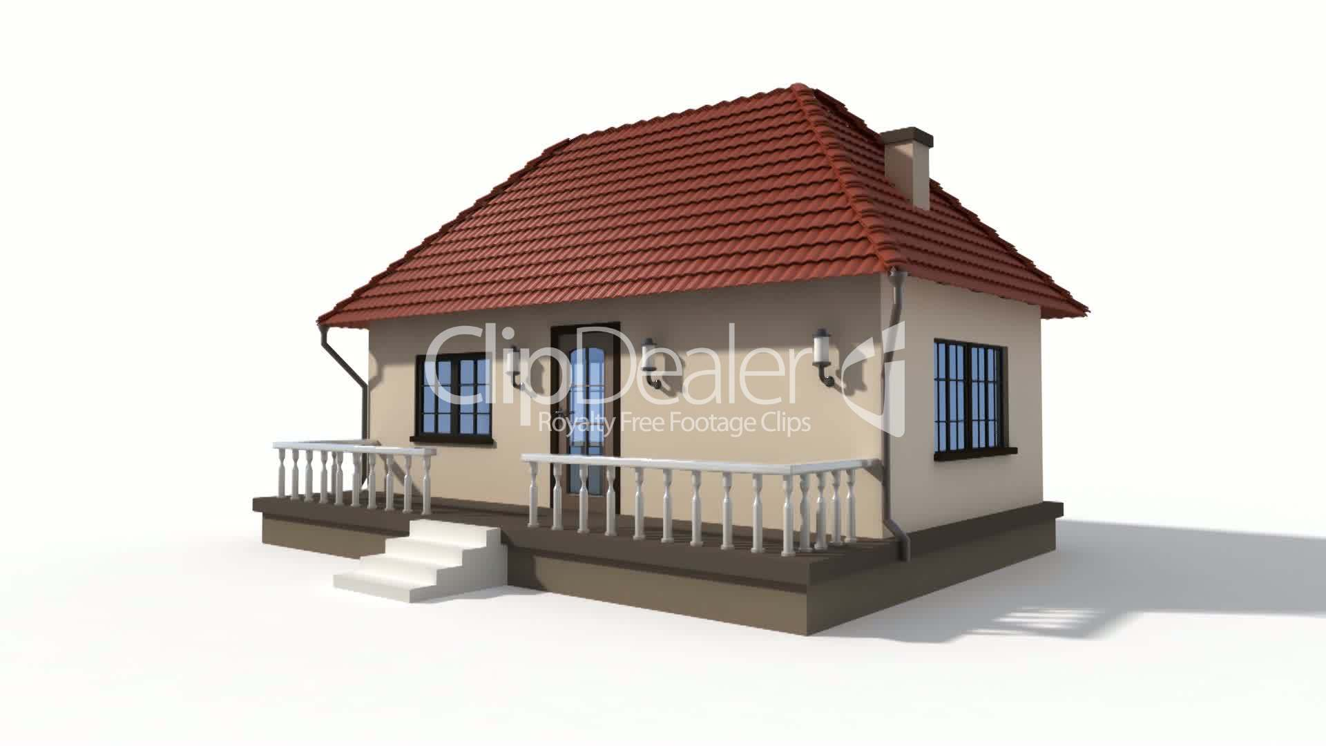 Time lapse animation of a building house royalty free - When building a house ...