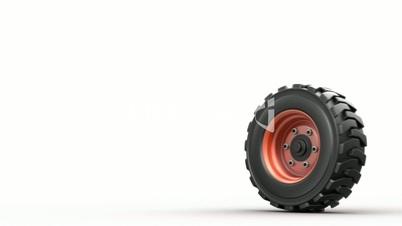 rolling truck wheel