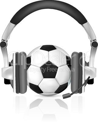 Football Soccer Podcast Vector illustration on white background