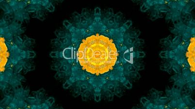 Animation of green flower lotus pattern,orient religion fancy texture.Buddhism Mandala flower,kaleidoscope,