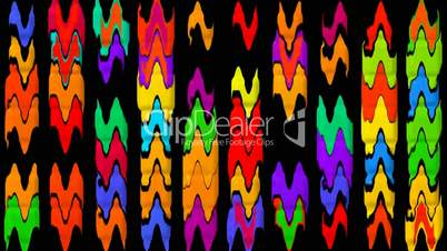 color waveform rhythm background.wave,frequency,glowing,pulsating,mosaics,