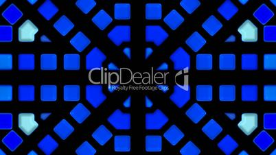 blue glass mosaics block disco pattern,tunnel interface.cylinder,engineering,machine,pipe,