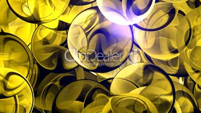 Yellow glass balls and light.aura,beams,energy,glitter,glow,heaven,light,magic,ray,shine,ball,