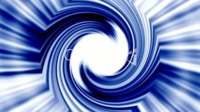 rotation blue metal turbine,energy tunnel and rays light.