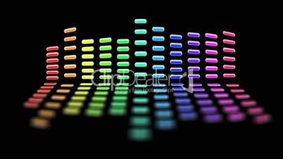 seamless loop rainbow equalizer with luma matte
