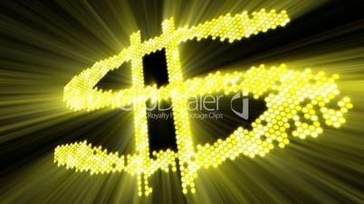 shining dollar sign