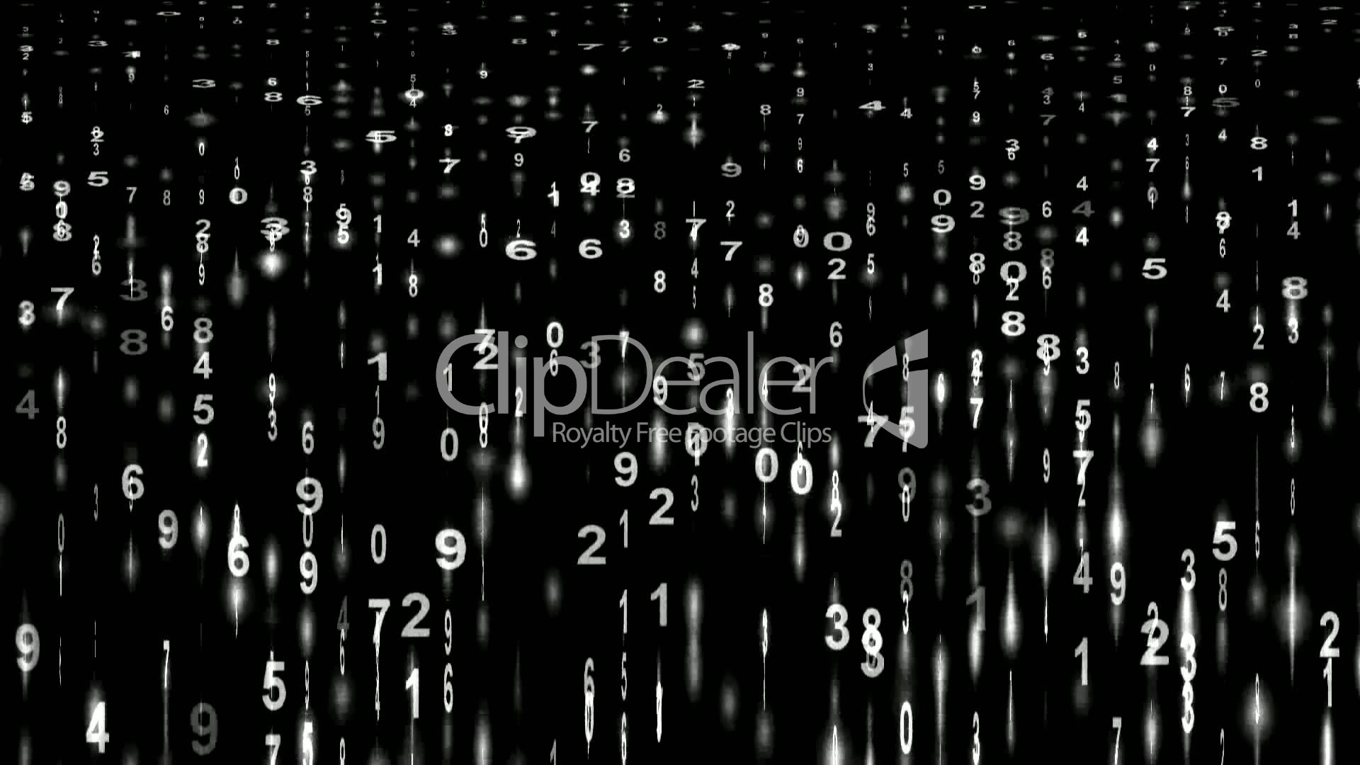 White Digital Matrixstock Tickerfinance Number Background