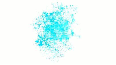 splash blue ink.Mirage,hallucinations,dust,particle,symbol,dream,vision,idea,creativity,vj,beautiful,decorative,mind,