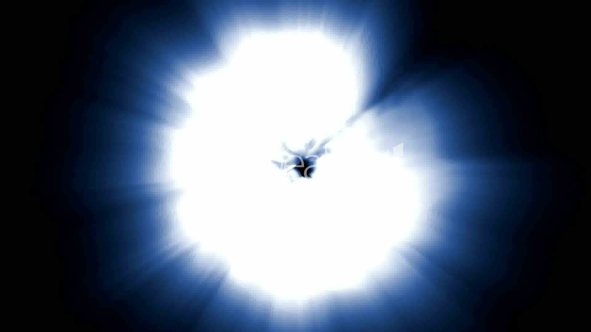Star Explosion Dazzling Light Generated By Nuclear
