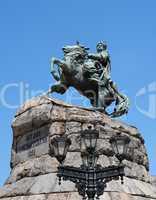 Equestrian statue of Hetman Bogdan Khmelnytsky in Kiev, Ukraine