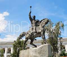 Equestrian statue of hetman Sahaidachny in Kiev, Ukraine