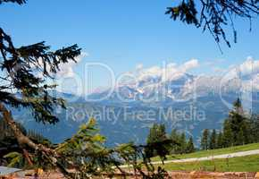 Mountainous alpine landscape in Austria