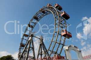 Big ferris, or observation, wheel in amusement park