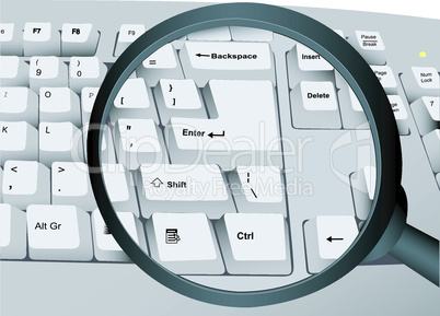 The keyboard and magnifier