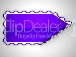 Violet hamous sticker or label