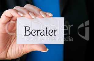 Berater - Business Concept