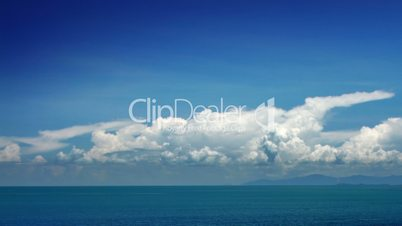 Clouds and sea time lapse